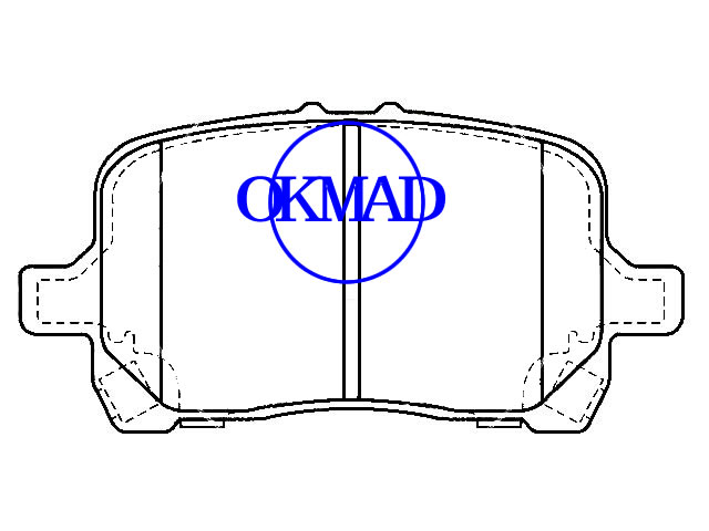 CHEVROLET Cobal Malibu Hybride CAMION HHR PONTIAC G5 GT PONTIAC G6 SATURN Aura plaquette de frein FMSI:D1160-8270/8670 OEM:15243704/20881786 WVA:24817,F1160
