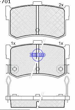 Plaquette de frein HONDA LEGEND HYUNDAI SONATA ROVER 800 FMSI:D1262-7236 OEM:43022-SG9-000 WVA20029,F1262