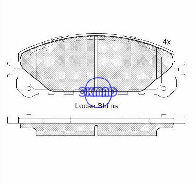Plaquette de frein Lexus RX FMSI : D1324-8436 OEM : 04465-0E010 WVA24452, F1324