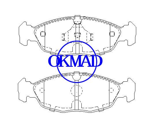 ビュイック(SGM)セイルエステートシボレー(SGM)セイルサルーンGMシャンガイニューセイルブレーキパッドFMSI:8871-D1644 OEM:89062189 GDB7799、F1644
