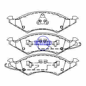 フォードトーラス4-2.5LV6-3.0LV6-3.8LマーキュリーセーブルリンカーンコンチネンタルV6-3.8LブレーキパッドFMSI:7222A-D324 7268A-D324 OEM:E8DZ-2001-A TRW:GDB4019、F324