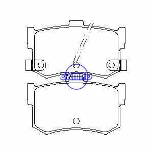 ACURA HONDA Legend HYUNDAI Sonata ROVER 800ハッチバックブレーキパッドFMSI:7236-D342 7236-D1262 OEM:43022-SG9-000 FDB444 TRW:GDB994 WVA:20029 20078 20079、F342