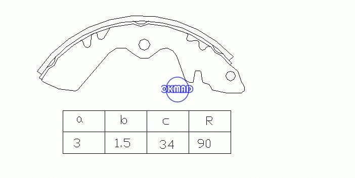 スズキキャリィボックス(0S)ドラムブレーキシューズOEM:52210-79030 MK9904 GS8247、OK-BS055