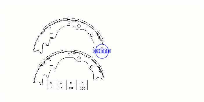 KIABESTAボックスMAZDAE-SERIEバス(SR1)(SR2)ドラムブレーキシューズOEM:SE28-26-310A FSB288 K3349 GS8523、OK-BS071