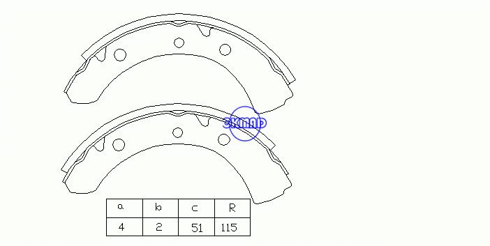 MITSUBISHI DELICA P01VドラムブレーキシューズOEM:MB058847 MK6618A GS7198、OK-BS103