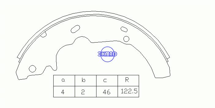 FORD TAURUS Thunderbird MERCURY Cougar Sable Mâchoires de frein à tambour FMSI:1396-S618 OEM:F2DZ-2200-A, OK-BS366