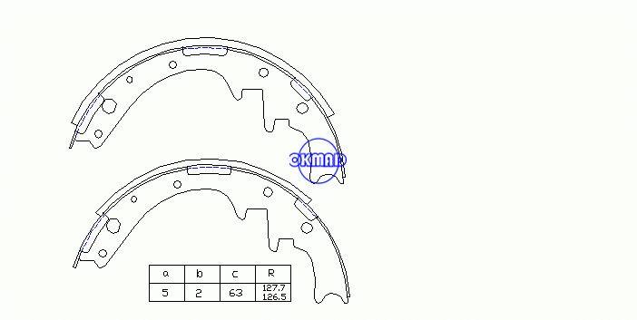 FORD USA AEROSTAR EXPLORER Mâchoires de frein à tambour FMSI:2089AT-S581 OEM:E9TZ2200B LS1743, OK-BS386R